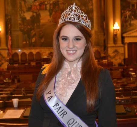 Newlin's Claire Werkiser, the 2010 Pennsylvania State Fair Queen, visits the state House of Representatives.