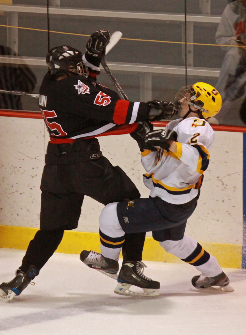 Unionville's Andrew Knight get physical with jack Lawn