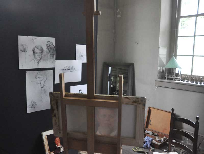 Jamie Wyeth Used Space In His Father Andrewu0027s Studio Early In His Career.  Here Recreated Is What The Space Looked Like As The Younger Wyeth Worked On  His ...