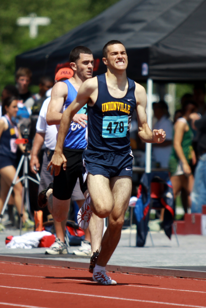 Unionville 800-meter runner Steve Pannacone won his event on Saturday