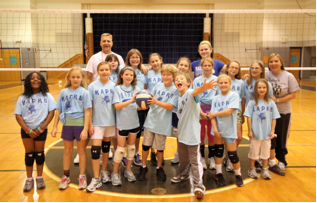 A small sample of the young volleyball players from the Kennett, Unionville and Avon Grove school districts that participated in the first season of volleyball with the Kennett Area Parks and Recreation Board 2012 program.