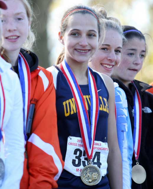 Unionville High School junior cross country star Courtney Smith was named Gatorade's 2012 cross country runner of the year for Pennsylvania, Thursday.