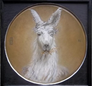 """Alpaca"" by William Basciani   was painted at Chenoa Manor, an animal rescue operation in"