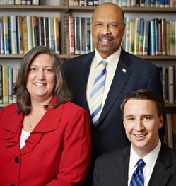 County Commissioners Kathi Cozzone (from left), Terence Farrell, and Ryan Costello are applauding a new study that ranked county as &quot;healthiest&quot; in Pennsylvania.
