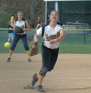 Unionville's Amy Large was 4-for-4 and picked up the win on the mound to help lead the Indians past Octorara, Wednesday.