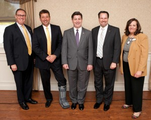 L to R: Robert F. Powelson, Chairman, Pennsylvania Public Utility Commission; Anthony Poluch, The Bryn Mawr Trust Company-Presenting Sponsor; Lieutenant Governor Jim Cawley; Matthew Tucker, 2013 SCCCC President; Cheryl Kuhn, SCCCC Executive Director