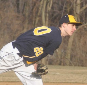 Unionville pitcher Andrew Taylor shut down Kennett, Thursday, as the Indians clinched their first league title in more than a decade.