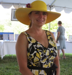 Sandra Litvin, shown at the Chester County SPCA's Forget-Me-Not gala on Sunday, was selected