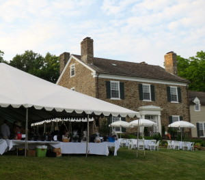 A variety of tents and umbrella tables on the lawn of Rolling Plains accommodated the crowd of about 350 at the Chester County SPCA's 26th Annual Forget-Me-Not Gala.