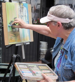 Artists from the Chester County Art Association are participating in the Second Annual Paint the Town event, which will run through  Friday, culminating in a show and sale.