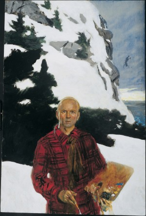 """Portrait of Rockwell Kent"" by Jamie Wyeth is one of the paintings on display at the Brandywine River Museum for the exhibit, ""Jamie Wyeth, Rockwell Kent, and Monhegan,"" which runs through Nov. 17."