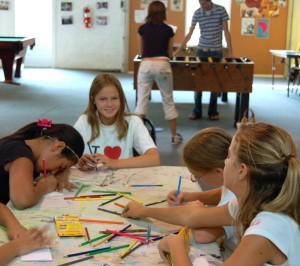 Teachers will have different art projects prepared each day during the free, seven-week program for children at the Garage.