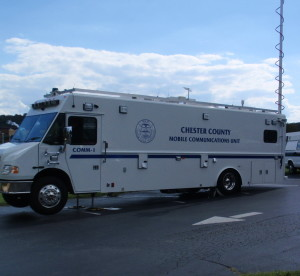 Chester County's COMM-ONE vehicle will be on display at the Government Services Center this weekend for the 80th Annual Radio