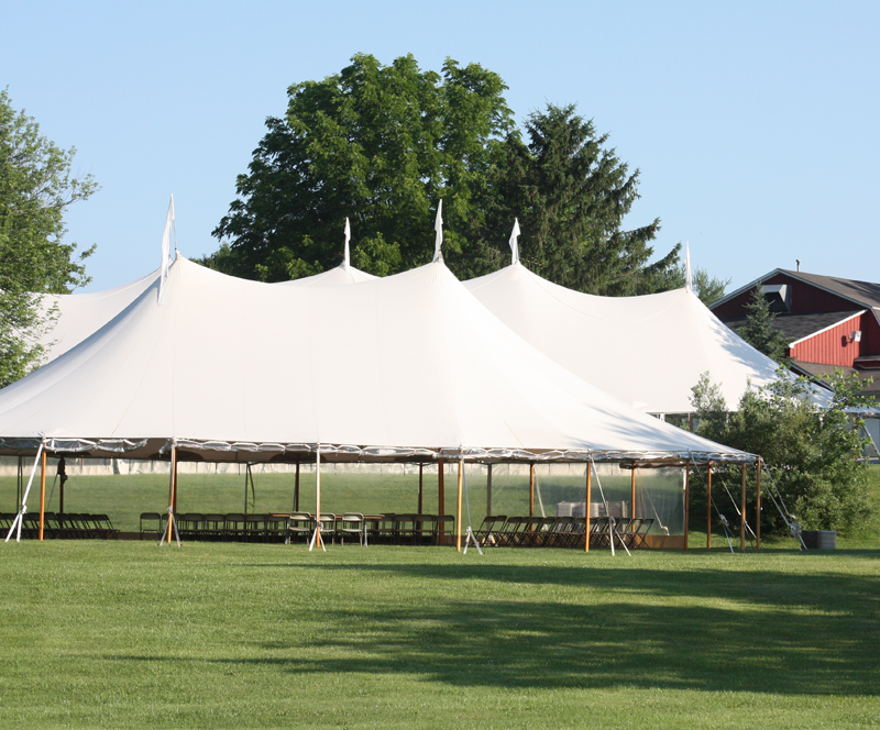 The tents are set and ready to go for tonight's kickoff of the Brandywine Storytellers Festival at Upland Country Day School.