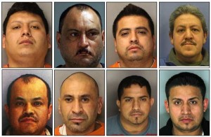 "Facing cocaine-trafficking charges are Daniel Ramirez, 28, of Nottingham; Miguel ""Gallo"" Luna-Rodriguez, 44, of Nottingham; Martin Romero-Cruz, 30, of Oxford; Miguel ""Twinky"" Lara-Zavala, 44, of Kennett Square; Abel Francisco Tinoco-Guitierrezz, 42, of Chadds Ford; Martin Zavala-Zavala, 36, of Coatesville; David Mora, 31, of Reading; and Erick Orihuela-Solalinde, 29, of Reading."