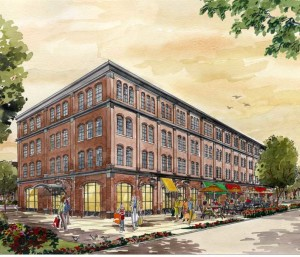 Victory Brewing Company's Kennett Square brewpub will be located in Magnolia Place, a mixed-use development under construction at Mill Road and West Cypress Street. An architect's rendering shows what the brewpub should look like when it opens in 2014.