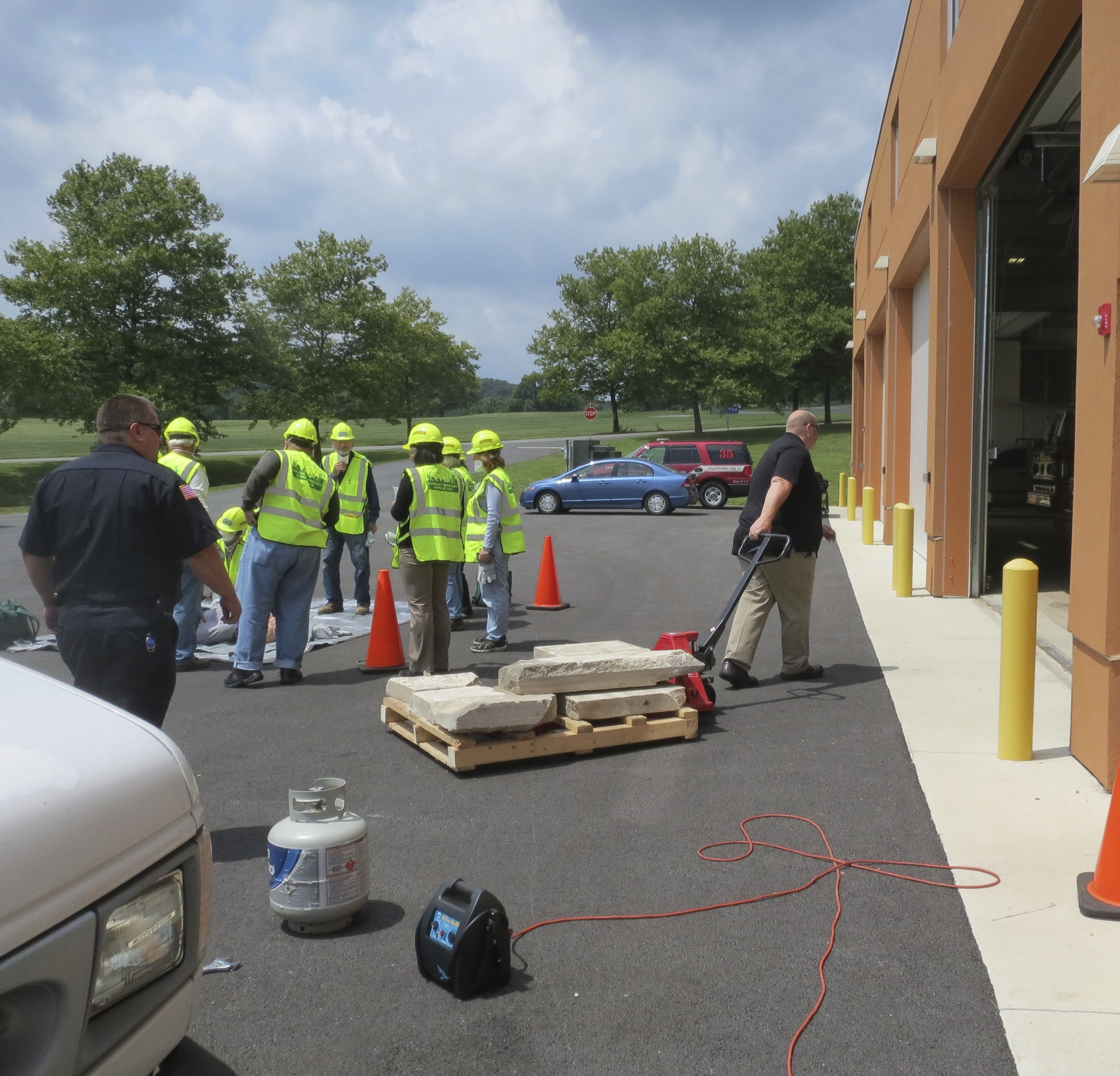 During the last CERT course, the Chester County Public Training Center was a hub of activity as emergency services workers went about their business as trainees learned how to rescue someone from a collapsed building.