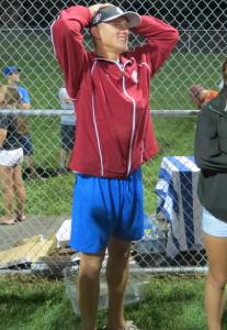 KAU Pitcher Alex Pechin shows off his trend-setting Italian shorts.
