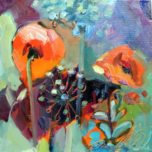 Chanticleer Poppies and Allium-Path Of Life   II