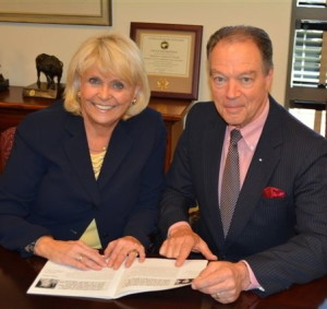 "Chester County Sheriff Carolyn ""Bunny"" Welsh (left) announces her selection of George P. March as chief deputy sheriff."