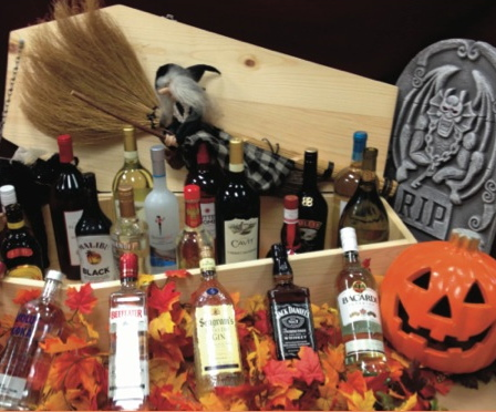The contents of a casket of spirits will be one of the Fright Feast's raffle prizes.