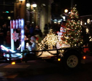 Kennett Square will be aglow with festively lit floats on Friday during the annual Holiday Light Parade.