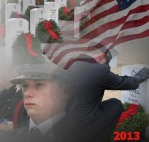 On Saturday, Dec. 14, wreaths will be placed on veterans' graves in more than 850 communities across the country as part of the Wreaths Across America project.