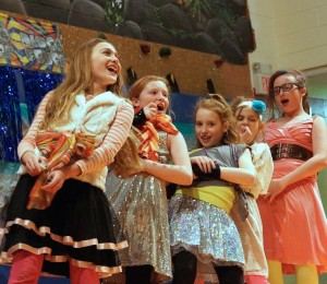 Fifth-grade students showcase their impressive talents at the Oldies Dance. Photo by Dave Lichter