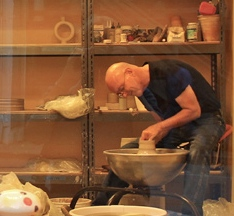 A demonstration of pot-throwing at  Charles Metzger Pottery will be one of the Friday Art Stroll activities in Kennett Square.