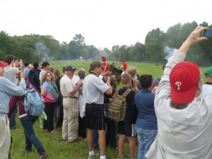 Many spectators captured the action with cell phones and cameras on Saturday and Sunday at Sandy Hollow.