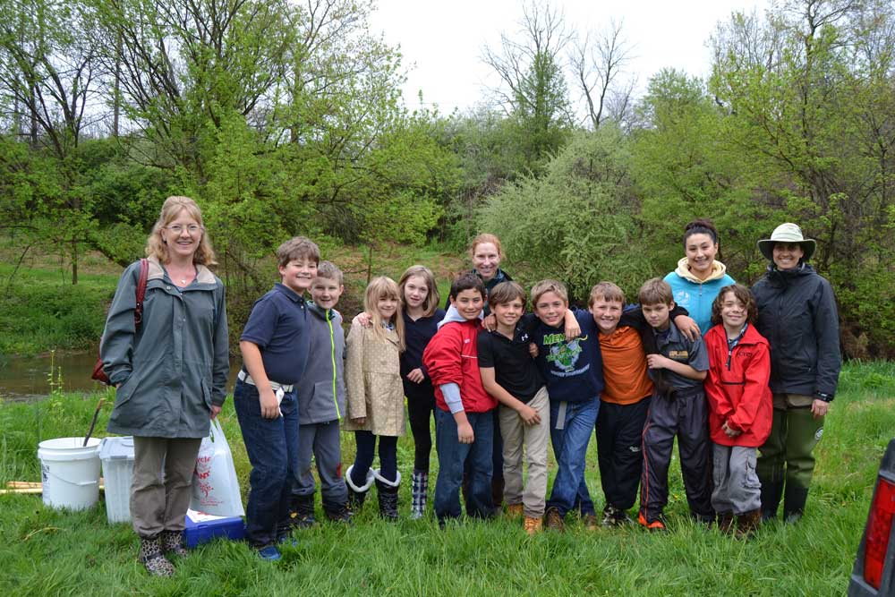 Fourth grade students at Upland raised trout for release into Brandywine Creek as part of the Pennsylvania Trout In the Classroom program through Stroud Water Research.