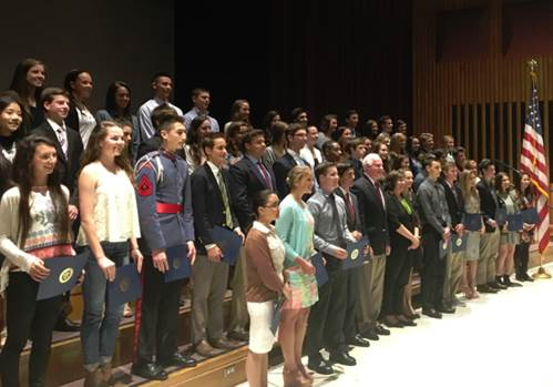 U.S. Rep Pat Meehan (R-7) with his district's Scholar-Athletes, including 23 students from Chester County.