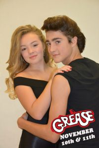 Lucie Dionne and Cass Ledyard star as Sandy Olsson and Danny Zuko in Upland's production of Grease this week.