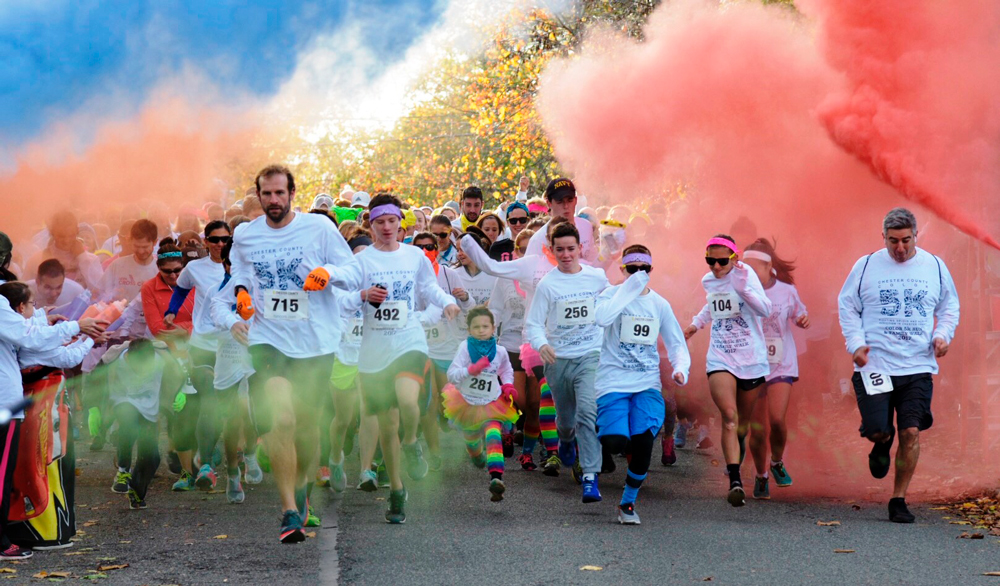 1000 plus turn out for chesco color run the unionville times a countdown and color blasters marked the start of the chester county color 5k with more than 900 participants chester county residents of all ages came publicscrutiny Gallery