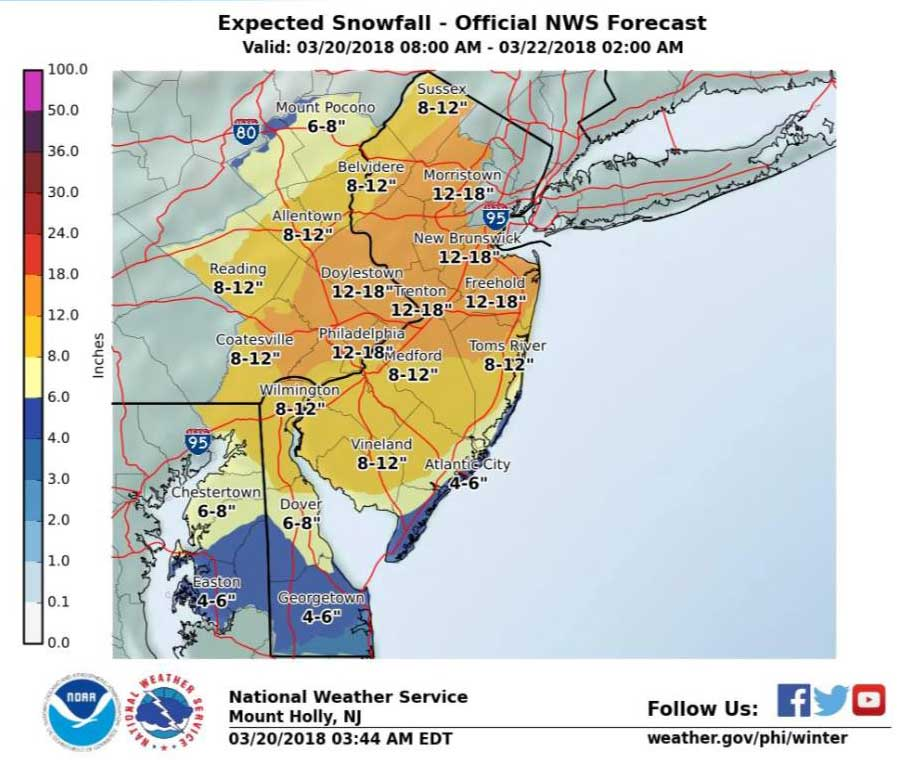 Nor'easter #4 to Bring a Plowable Snow