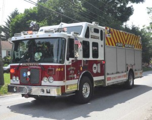 The Kennett Fire Company had many of its units on display.