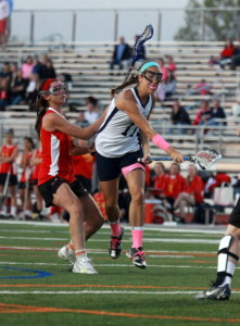 Unionville's Kristen Newbrough toched the East net for six goals in a 13-10 win