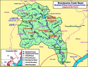 The 25 municipalities of the Brandywine Creek basin were graded this week for how their ordinances manage storm water runoff, with Pocopson ranking first and Valley and South Coatesville rated worst.