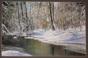"""""""Winter Magic,""""  a watercolor by Glenn Blue, will be featured at the Chadds Ford Gallery starting Friday."""