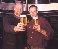 Bill Covaleski (right), co-founder of Victory Brewing Company, is shown with co-founder Ron Barchet. The two have been friends since meeting on the school bus in fifth grade.