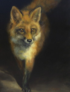 """""""Chester County Fox"""" is one of the paintings by Sandra Severson that will be displayed at the Chester County Art Association."""