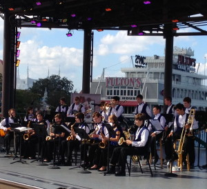 """Unionville High's Jazz Band, which delighted crowds in Downtown Disney in January, will perform at the high school on April 5 for """"Jazz Along the Brandywine."""""""