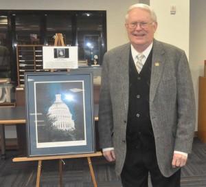 U.S. Representative Joe Pitts (R-16) with his painting