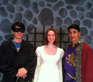 Westley, Buttercup, and Humperdinck: Ashish Streatfield, Tessa Jackson, Samir Streatfield.