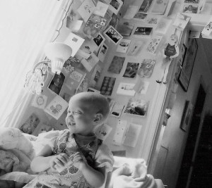 "Artist-photographer Cris Staley Hutchinson chronicles her daughter's battle with cancer in a film and installation called ""Fighting Bear."""