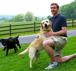East Marlborough Township Supervisors' Chairman Cuyler Walker, shown with several of his Labradors, will host the upcoming Chester County SPCA's Forget-Me-Not Gala with his wife, Katie Ryan Walker.