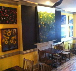 Paintings by West Chester artist John Hannafin will be on view at the new Roots Cafe.