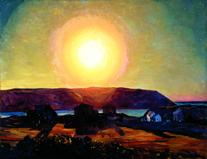 """Late Afternoon, Monhegan Island"" is a 1906-07 painting by Rockwell Kent that is included in the exhibit."