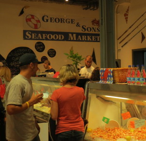 An inviting display of fresh and prepared seafood choices greeted visitors to George & Sons Seafood in the Market at Liberty Place.