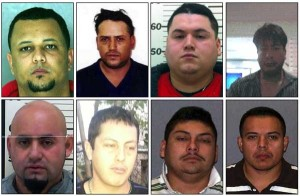 "Moise ""Moi"" Lantigua-Ayala (clockwise from top left), 29, of Reading; Fidencio ""La Tusa"" Avalos, 42, of Kennett Square; Jonathan ""Cesar"" Garcia Sanchez, 25, of Wilmington, De.; Jesus Zamora-Zamora, 40, of Wilmington, De.; Benjamin Lara-Medina, 38, of Wilmington, De.; Cesar Morales Castillo, a/k/a ""Rafael Castaneda"" and ""Chicles"", 32, of Wilmington, De.; Marcelino ""Pokey"" Rocha-Luna, 25, of Wilmington, De.; and Jose ""Mario"" Miranda Garcia, 29, of Newark, De. are among the defendants in Operation Broken Pipeline."